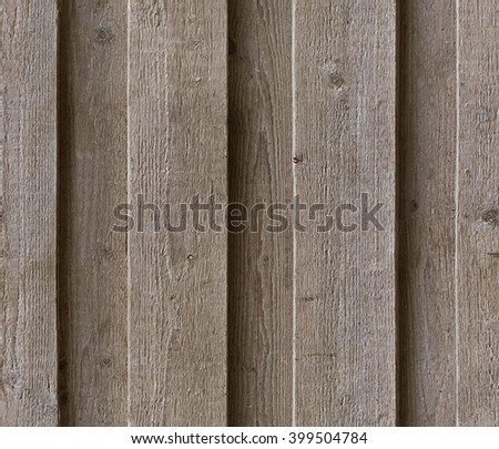 Verticall wooden planks, HD seamless texture of natural aged color - stock photo