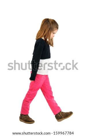Very angry child with bad temper - stock photo