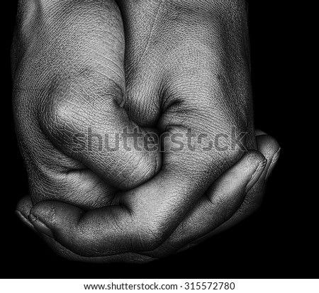 Very artistic Image of a Afro American Womans Hands