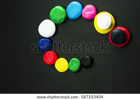 Very beautiful, different, colorful circles
