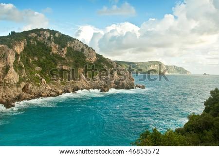 Very beautiful island of Corfu , Greece - stock photo