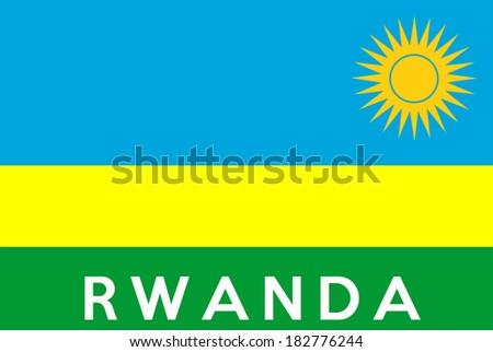 very big size illustration country flag of Rwanda - stock photo