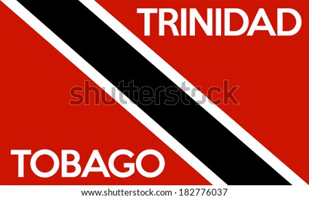 very big size illustration country flag of Trinidad and Tobago