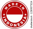 very big size made in indonesia country label - stock photo