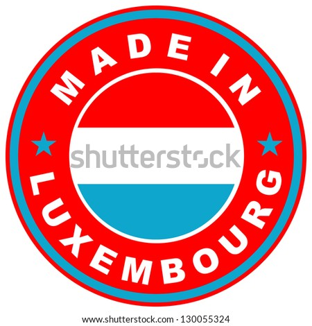 very big size made in luxembourg country label