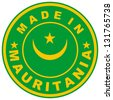 very big size made in mauritania country label - stock photo