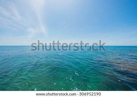 Very clear waters of the rocky islands, the most beautiful blue sky , Beautiful landscape