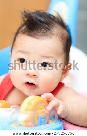 very cute asian infant - stock photo