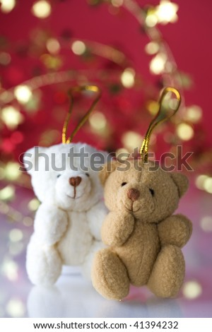 Very cute teddy bears - stock photo