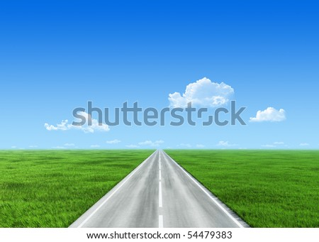 Very detailed 7000px road template - stock photo