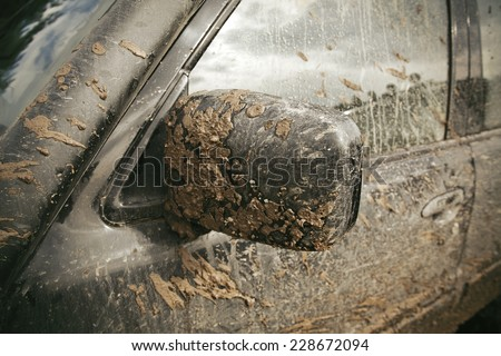 Very Dirty Car - stock photo