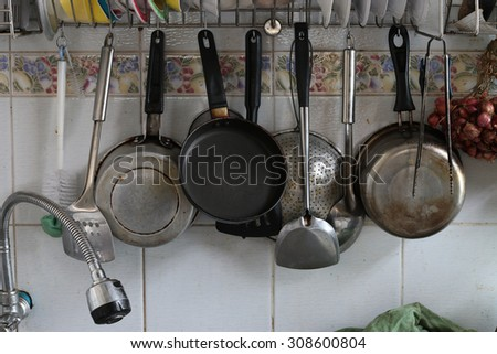 Very dirty kitchen - stock photo