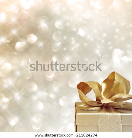 Very festive background with christmas gift