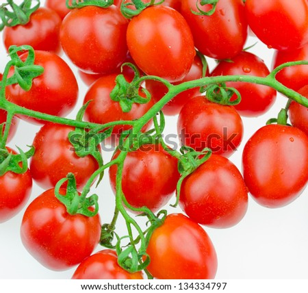 very fresh tomatoes isolated on white