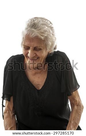 Very happy Senior smilling . - stock photo