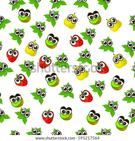 Very high quality original trendy seamless pattern with fresh kiwi and slice character, personage or face