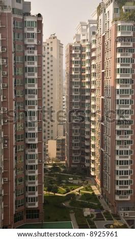 Very High Residential Apartment Buildings, Guiyang, Guizhou, China - stock photo