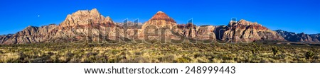 Very high resolution panorama of Red Rock Canyon Conservation Area, Nevada.