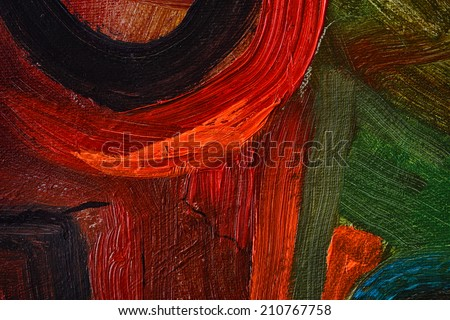 very Large scale Original Oil painting on Canvas - stock photo