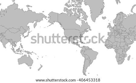America Centered World Map Stock Images RoyaltyFree Images - United states world map