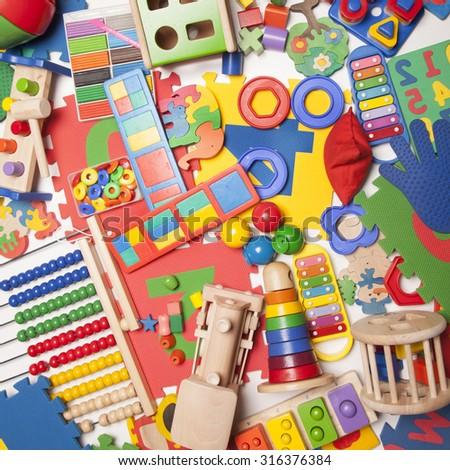 very many kids toys - stock photo