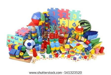 very many toys - stock photo