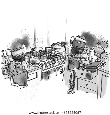 Messy Kitchen Stock Images Royalty Free Images Amp Vectors