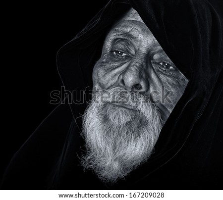 Very Nice Black and white Image of a spiritual leader