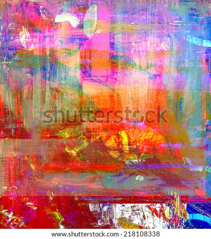 Very nice large scale Abstract painting, Oil On Canvas - stock photo