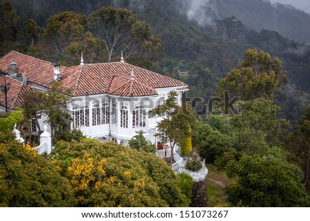 Very nice old building at the Monserrate, Bogota, Colombia well worth the trip up