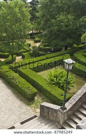 Very nice park with the green labyrinths, maze, in Drnis