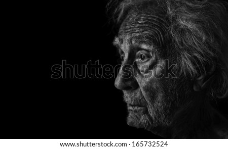 Very Nice Studio Portrait of a Senior man - stock photo