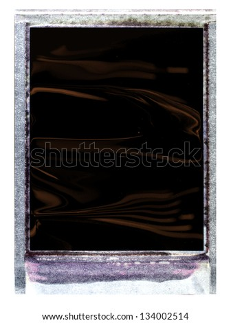 Very old Analogue Instant Negative Frame - stock photo