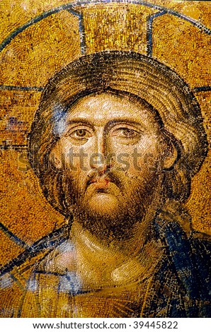 Very old and beautiful Jesus Christ Portrait face. Useful file for your christmas brochure, religious material and other purposes.