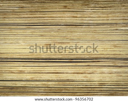Very old book pages closeup. - stock photo