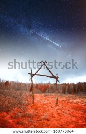 very old cemetery. Elements of this image furnished by NASA - stock photo