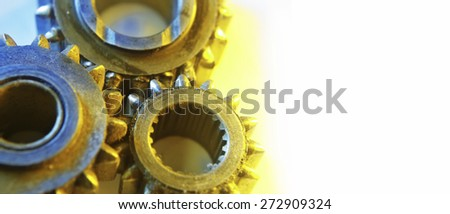 Very old cogs / gears - stock photo