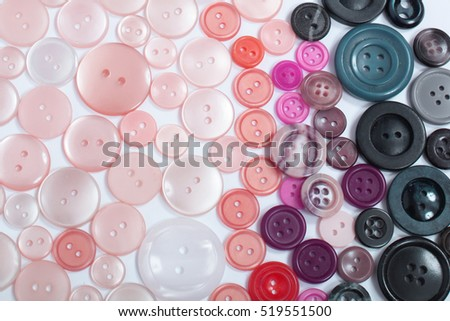 very old color buttons on the white background
