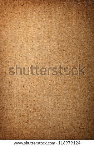 Very old cotton canvas for background, vintage style - stock photo