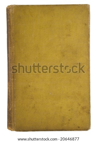 Very old fatigued blank book cover