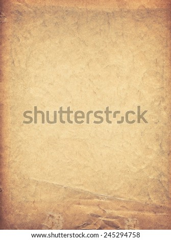 very old grunge paper background with space for text or image