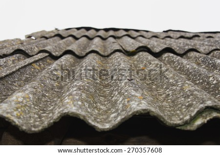 Very old house roof in the village - stock photo
