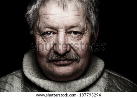 Very old man portrait  - stock photo