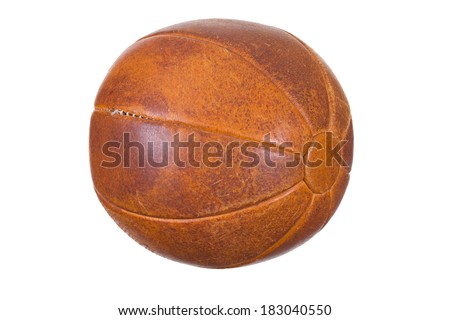 very old medicine ball