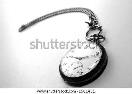 Very old pocket watch in Black And White