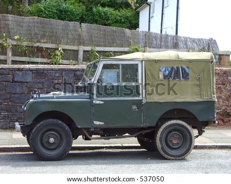 Very old Series 1 Land Rover from the 1950's - making it around 60 years old!