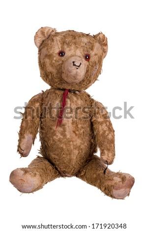 very old teddybear - stock photo
