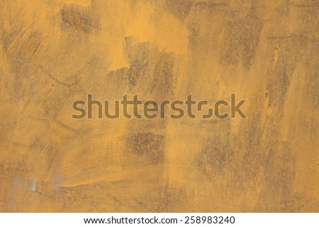 Very old yellow wall with paint grunge background  - stock photo