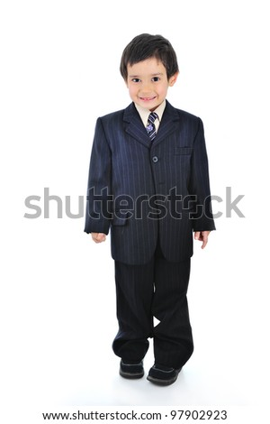 Very young business kid