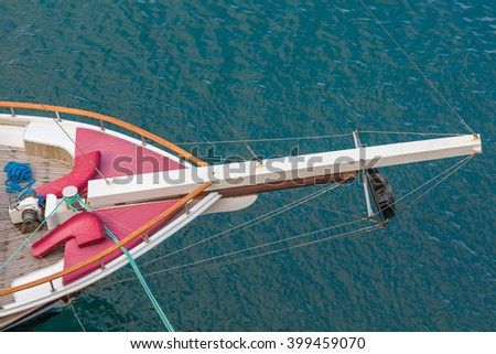 Vessel deck aerial view - stock photo